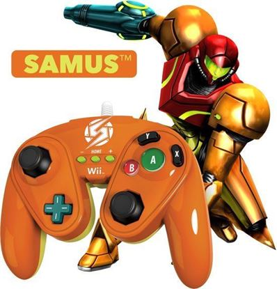 Picture of PDP - Nintendo Wired Fight Pad WII U Official GC controller Samus