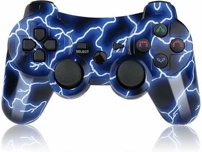 Picture of PS3 Controller Blue Lightning