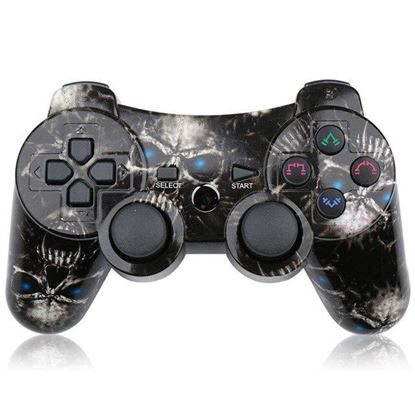 Picture of PS3 Controller Black Skulls