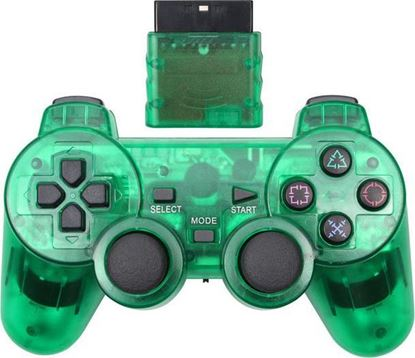 Picture of Wireless PS2 Controller Transparant Green