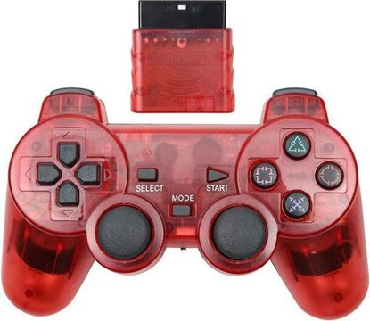 Picture of Wireless PS2 Controller Transparent Red