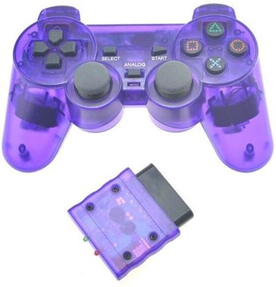 Picture of Wireless PS2 Controller Transparent Purple