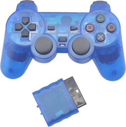 Picture of Wireless PS2 Controller Transparent Blue