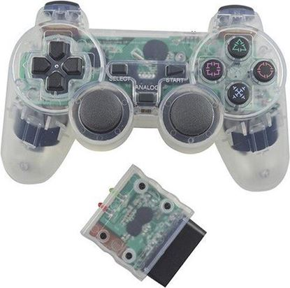 Picture of Wireless PS2 Controller Transparent White