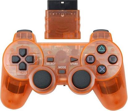 Picture of Wireless PS2 Controller Transparent Orange