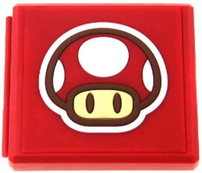 Afbeeldingen van Nintendo Switch Game Card Holder -  Mario Mushroom