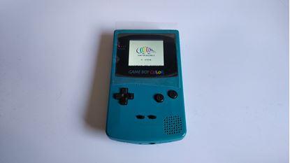 Afbeeldingen van Game Boy Color teal Backlight Modded